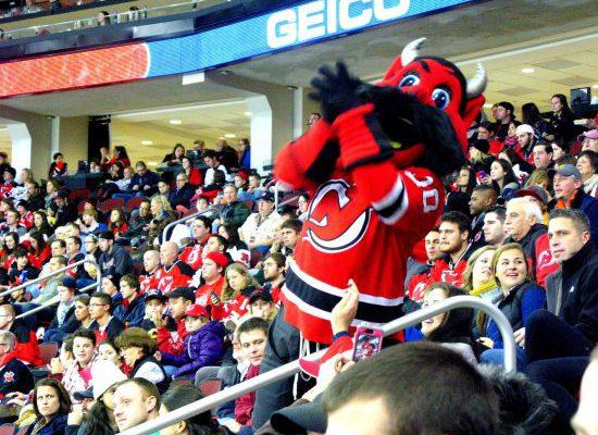 New Jersey Devils mascot NJ Devil