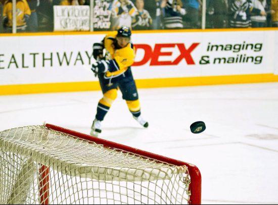 Nashville Predators hockey player puck