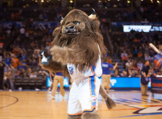 Oklahoma City Thunder mascot Rumble the Bison