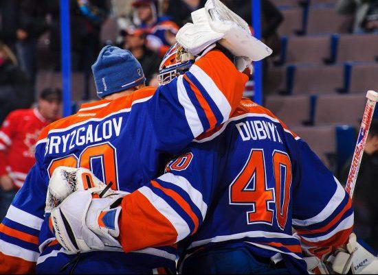 Edmonton Oilers players victory