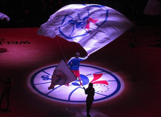 Philadelphia Seventy Sixers flag
