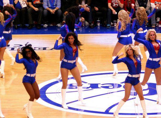 Philadelphia Seventy Sixers game cheerleaders dancers