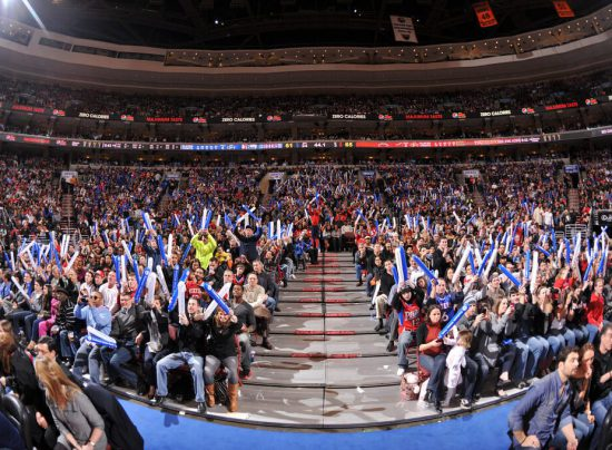 Philadelphia Seventy Sixers fans at the game