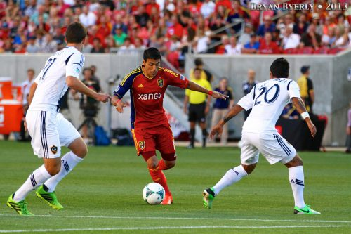 Real Salt Lake vs Galaxy soccer game