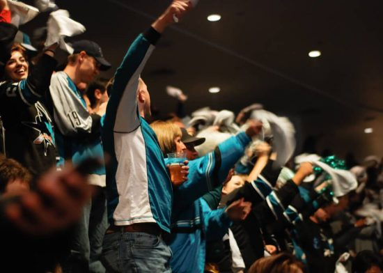 San Jose Sharks fans cheering