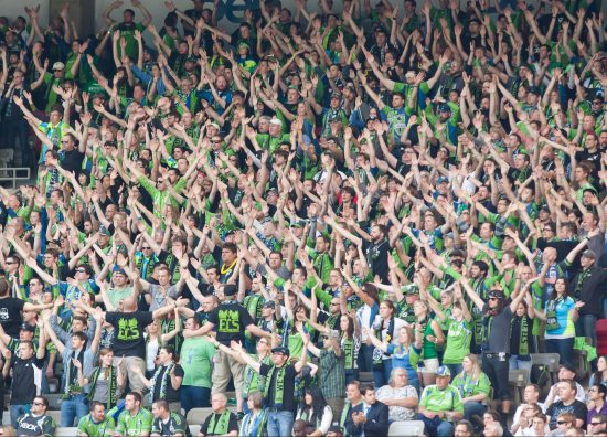 Seattle Sounders Fans Cheer