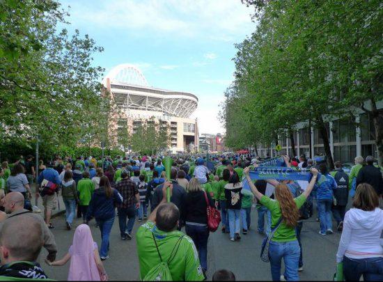 Seattle Sounders Walk to Stadium