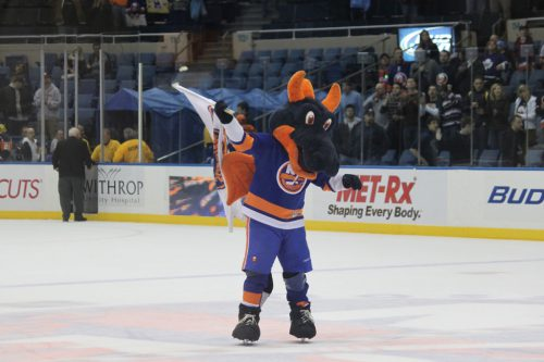 Sparky the Dragon mascot New York Islanders