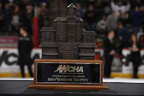 WCHA tournament Champion Broadmoor trophy