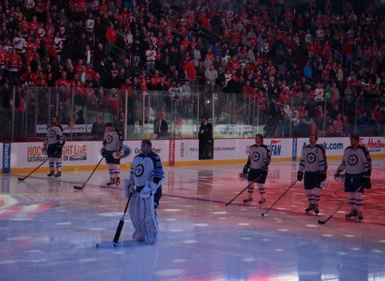 Winnipeg Jets hockey Canadian National Anthem