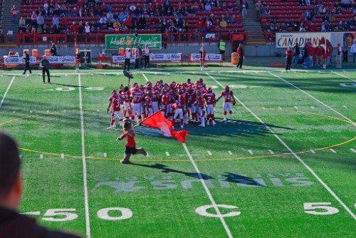 Calgary Stampeders Flag Bearer