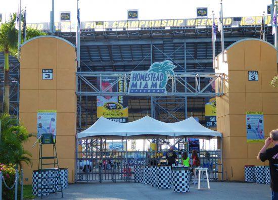 Homestead Miami Speedway Enrtance