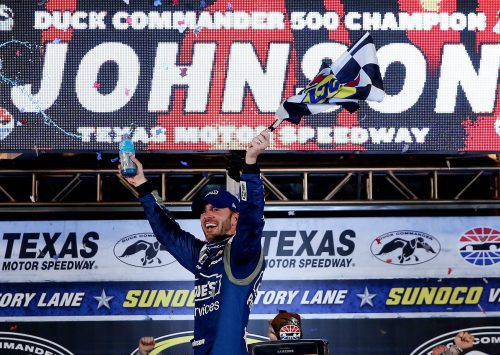Jimmie Johnson Duck Commander 500 winner