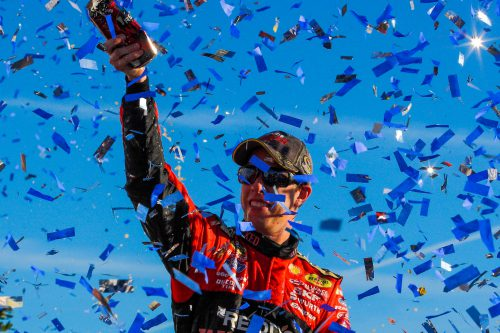 Joey Logano GEICO 500 winner