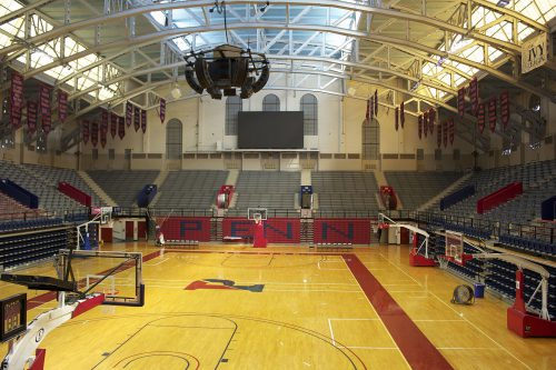 The Palestra banners