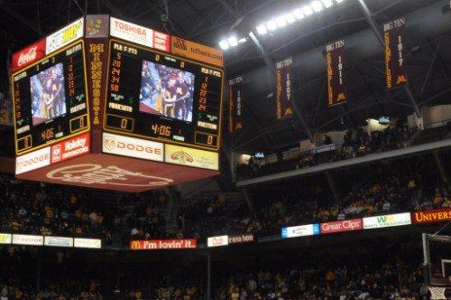 Williams Arena raised court