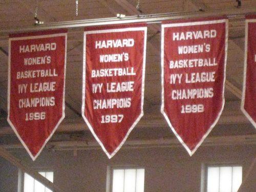 Harvard Basketball Banners