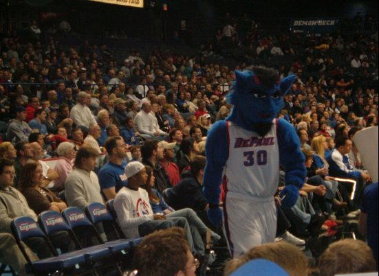 DePaul Blue Demons basketball mascot DIBS