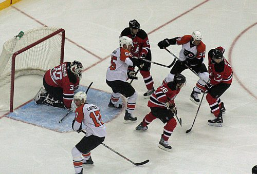New Jersey Devils vs Philadelphia Flyers game