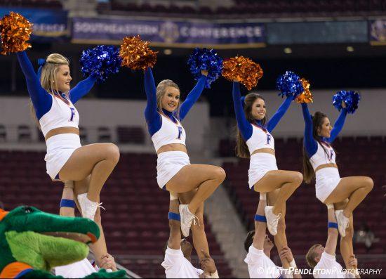 Florida Gators basketball cheerleaders