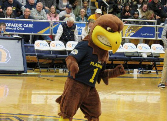 Kent State Golden Flashes basketball mascot Flash the Golden Eagle