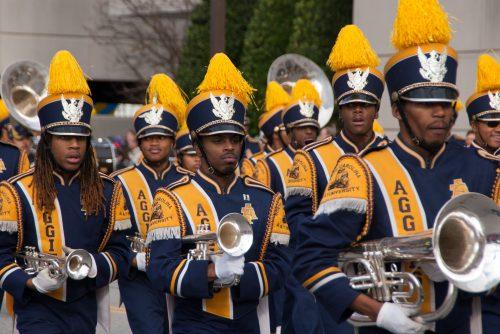 North Carolina AT Aggies band Blue and Gold Marching Machine