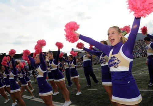 Western Carolina Catamounts cheerleaders