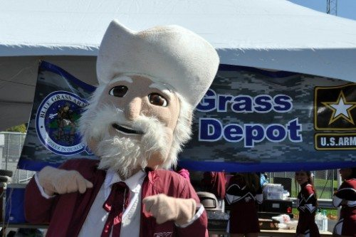 EKU Eastern Kentucky Colonels mascot the Colonel
