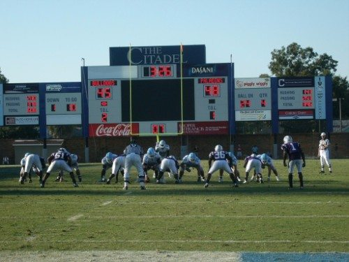 The Citadel Bulldogs vs Furman Paladins