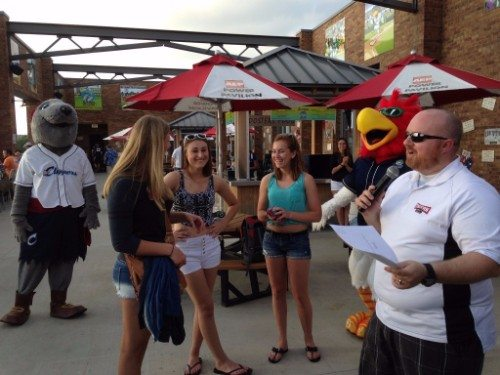 Columbus Clippers party at the plaza Huntington Park