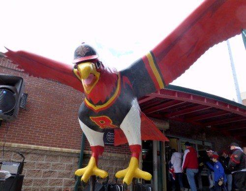 Rochester Red Wings Frontier Field bird statue