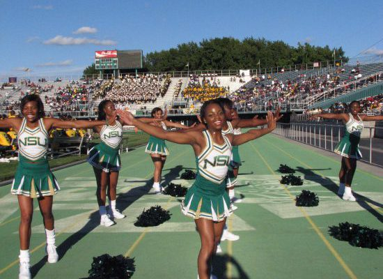 Norfolk State Spartans cheerleaders