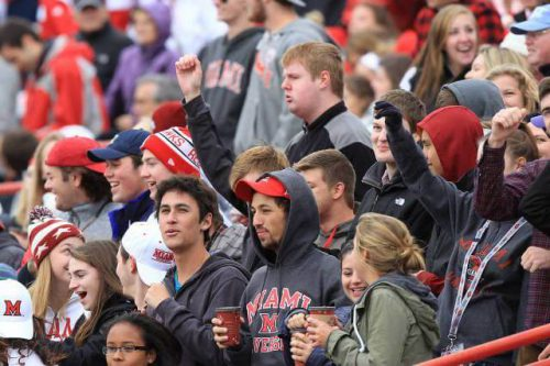 miami redhawks student section red alert
