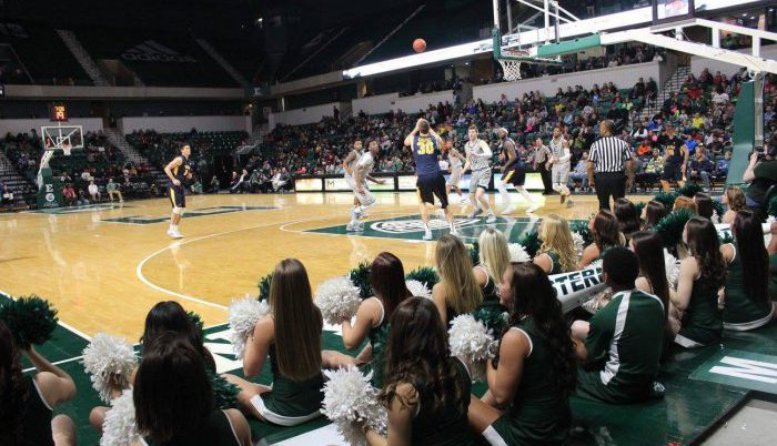 Eastern Michigan Eagles Basketball Convocation Center players cheerleaders game