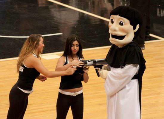 Providence Friars Basketball Dunkin Donuts Center mascot Friar Dom