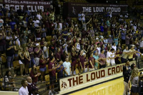 Texas State Bobcats Basketball Strahan Coliseum loud crowd fans