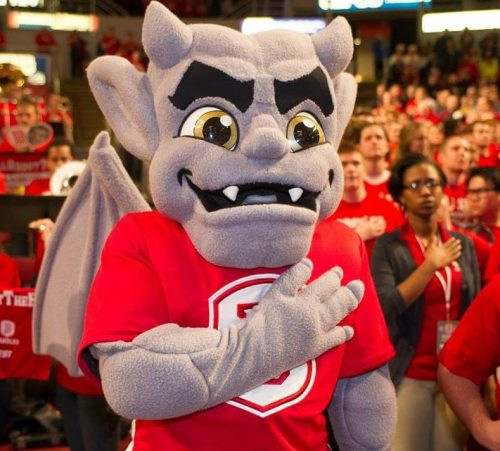 Kaboom mascot Bradley Braves