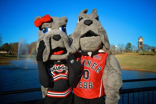 Gardner Webb Runnin Bulldogs Mack Mascot