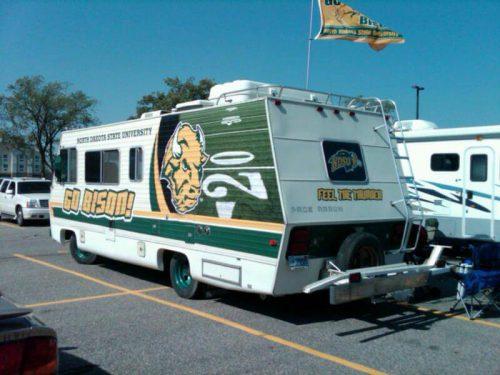 North Dakota State Bison tailgate vehicle