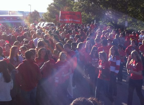 Cornell Big Red homecoming parade