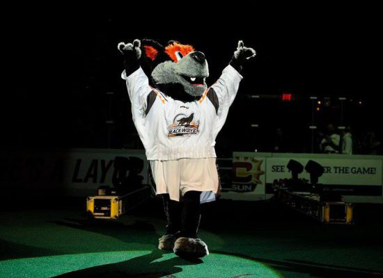New England Black Wolves Lacrosse mascot Hunter