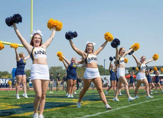 Northern Colorado Bears Nottingham Field cheerleaders
