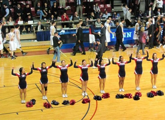 Penn Quakers The Palestra cheerleaders