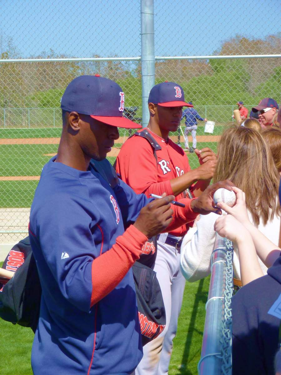 Autographs Boston Red Sox Spring Training