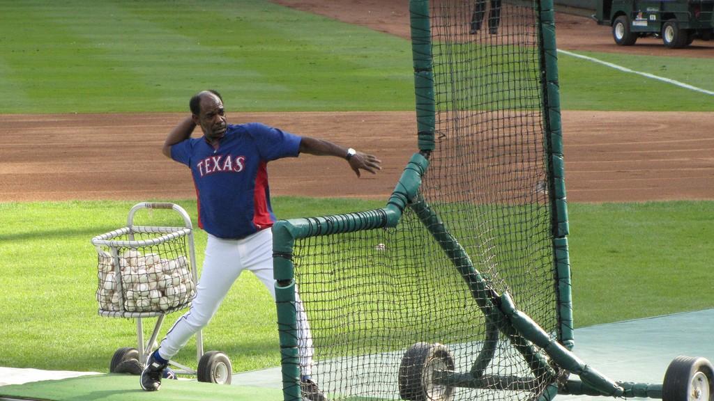 Texas Rangers practice
