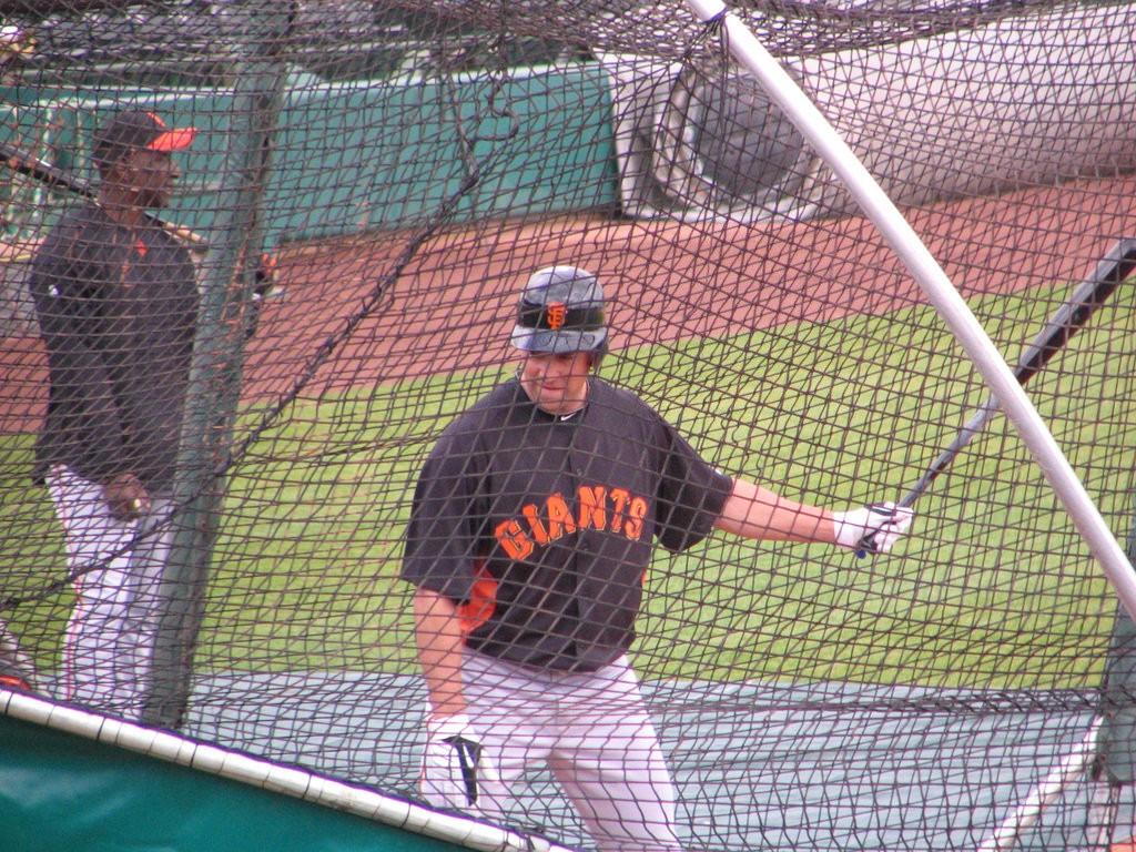 SF Giants batting practice