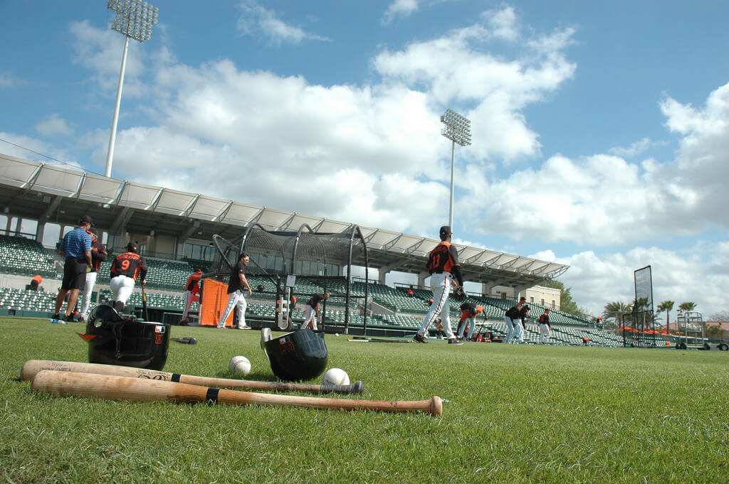 Baltimore Orioles Spring Training practice workout