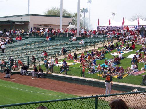 Los Angeles Angels Spring Training Tempe Diablo Stadium picnic