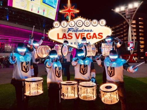Vegas Golden Knights Drum Bots