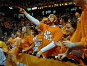 Tennessee Volunteers basketball fans